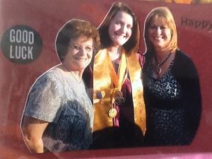 Graduation L to R Nanny, Kelsey, Aunt Cheri
