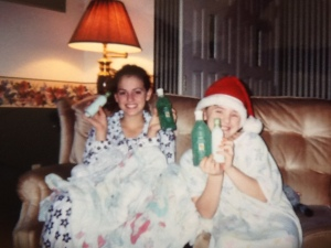 Christmas... Paige (L) and Kelsey (R)