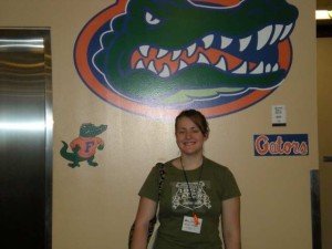 Kelsey at UF Orientation...Go Gators!