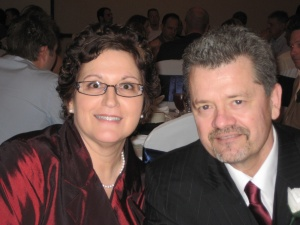 Me with my wonderful husband at Paige's wedding, January2010