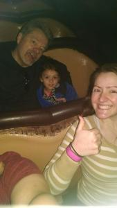 ...so brave on Splash Mountain.  Aunt Kelsey is very excited!