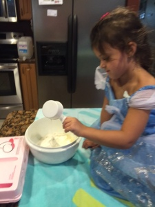 Making a cake for Papa.